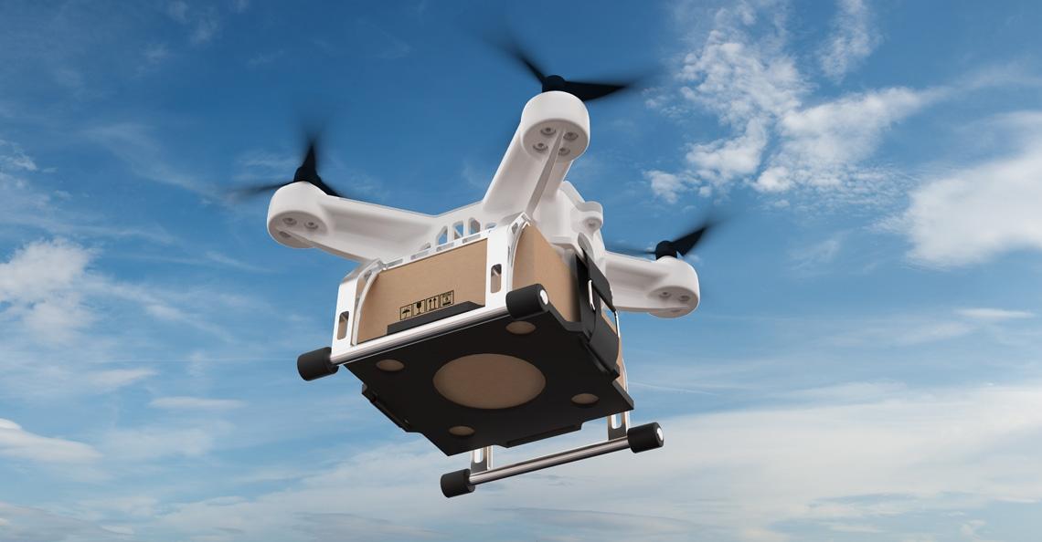 Belgische studenten doen recordpoging pakketjes bezorgen met drone