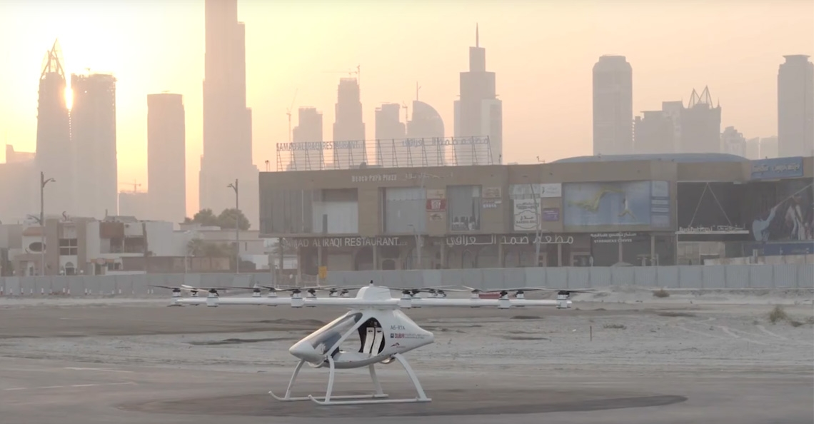 Volocopter taxidrone getest in Dubai