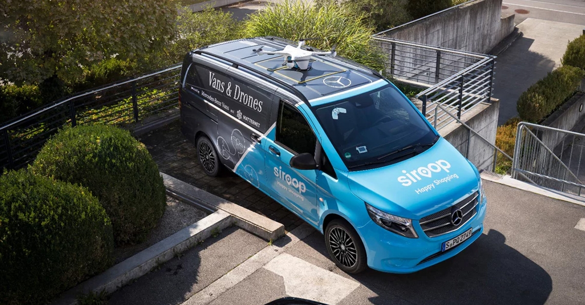 Mercedes-Benz start proef met drone bezorging in Zürich