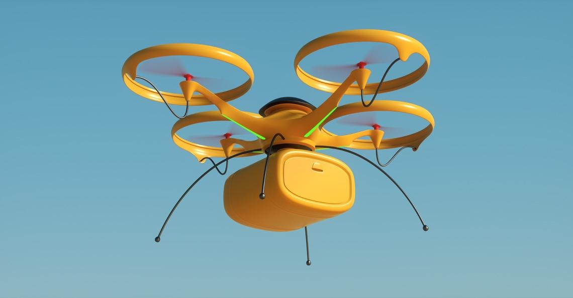 Proefvluchten met drones voor bezorging medicijnen op Schiermonnikoog