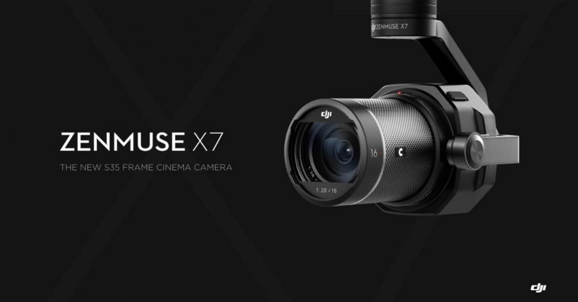DJI presenteert nieuwe Zenmuse X7 camera voor Inspire 2