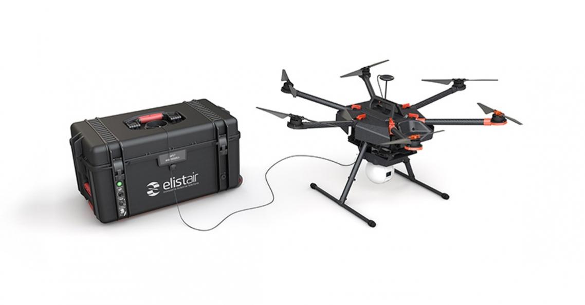 Vodafone test Elistair bekabeld drone systeem voor 4G dekking
