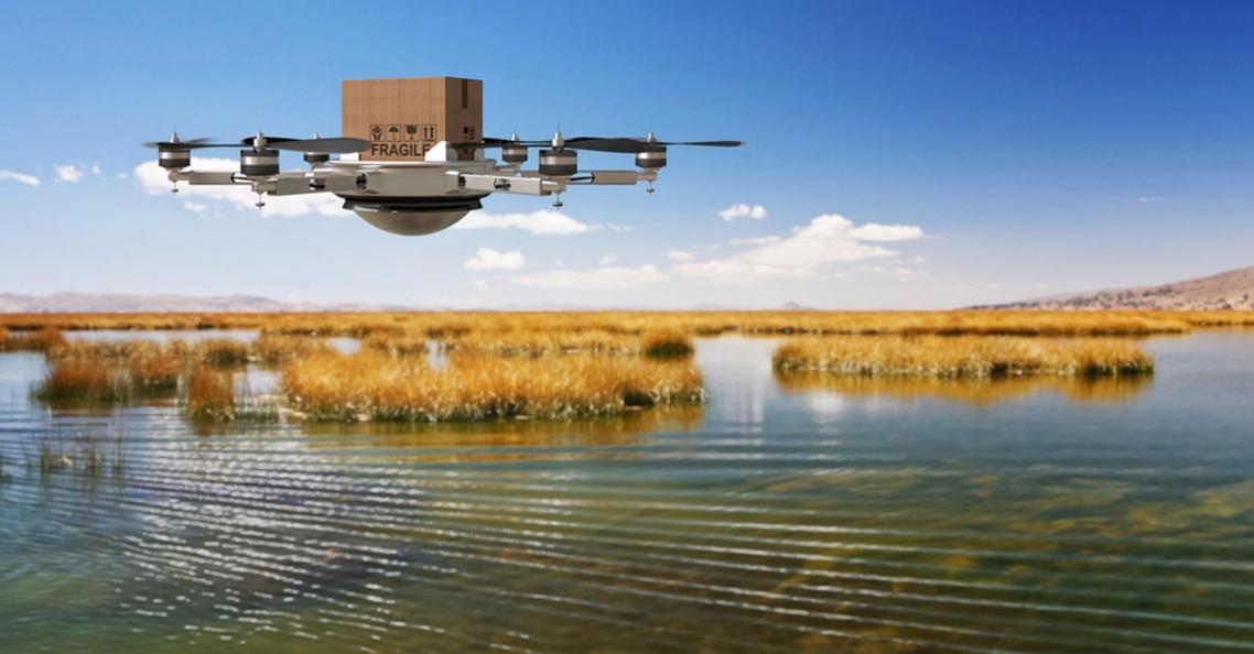 Alibaba's drones bezorgen pakketten naar eilanden