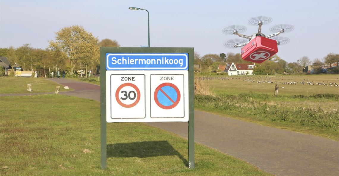 Proefvluchten met drones naar Schiermonnikoog stuit op weerstand