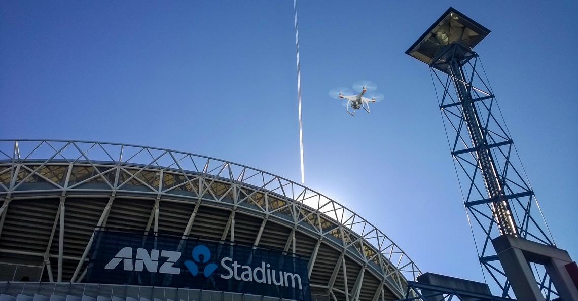 Australische voetbalbond beschuldigd van spionage met drone
