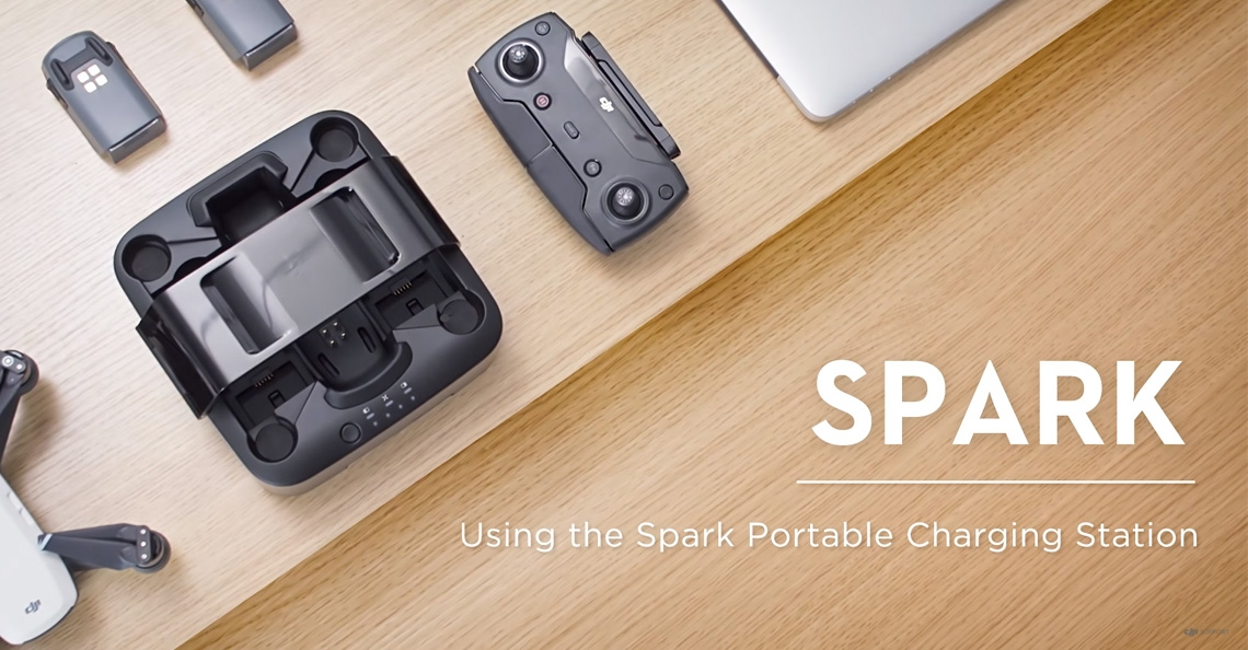 DJI lanceert draagbaar oplaadstation voor Spark drone