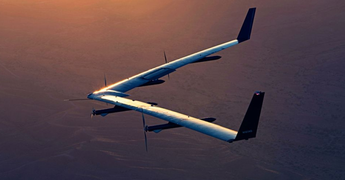 Facebook's solar drone Aquila wordt tentoongesteld in Londen