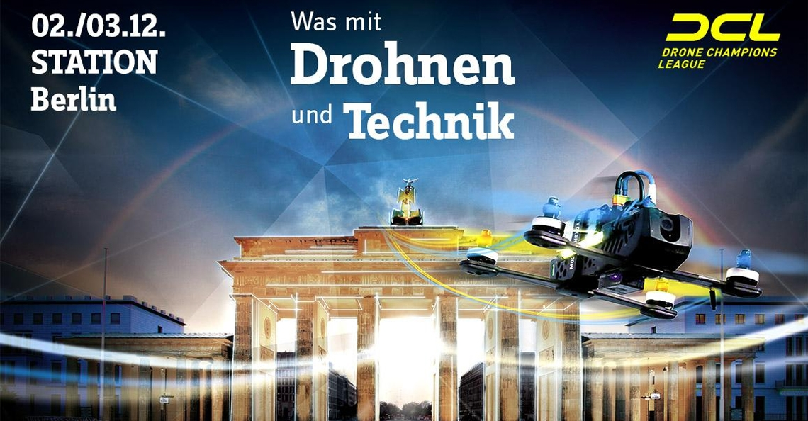 Finale Drone Champions League in Berlijn, Duitsland