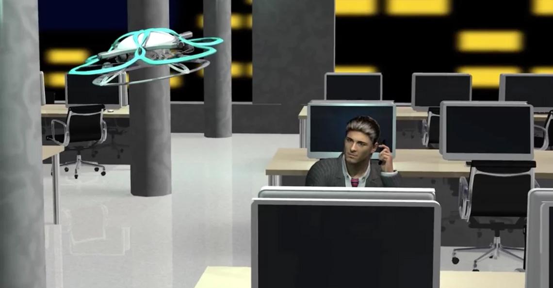 Drone met luide muziek verjaagt Japanse overwerkers
