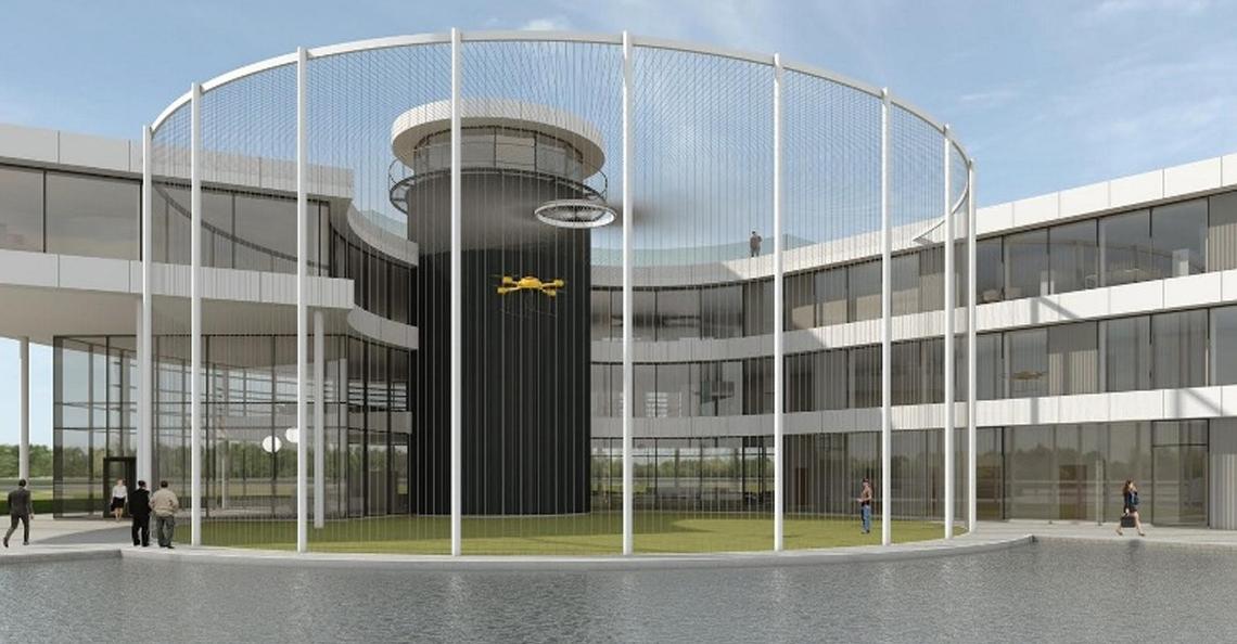 Bouw Droneport België vandaag gestart