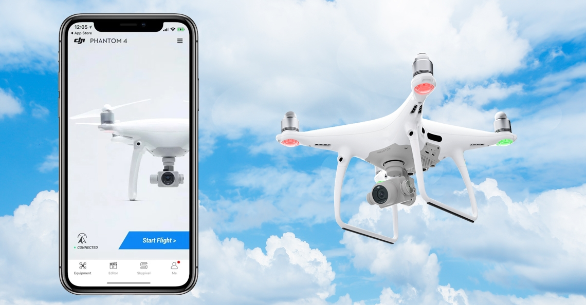 DJI Go 4 app nu ook full-screen op Apple iPhone X