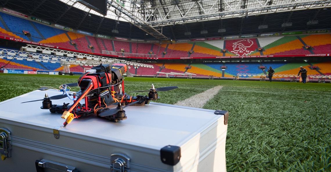 Finale NK Drone Race 2018 in de Amsterdam ArenA