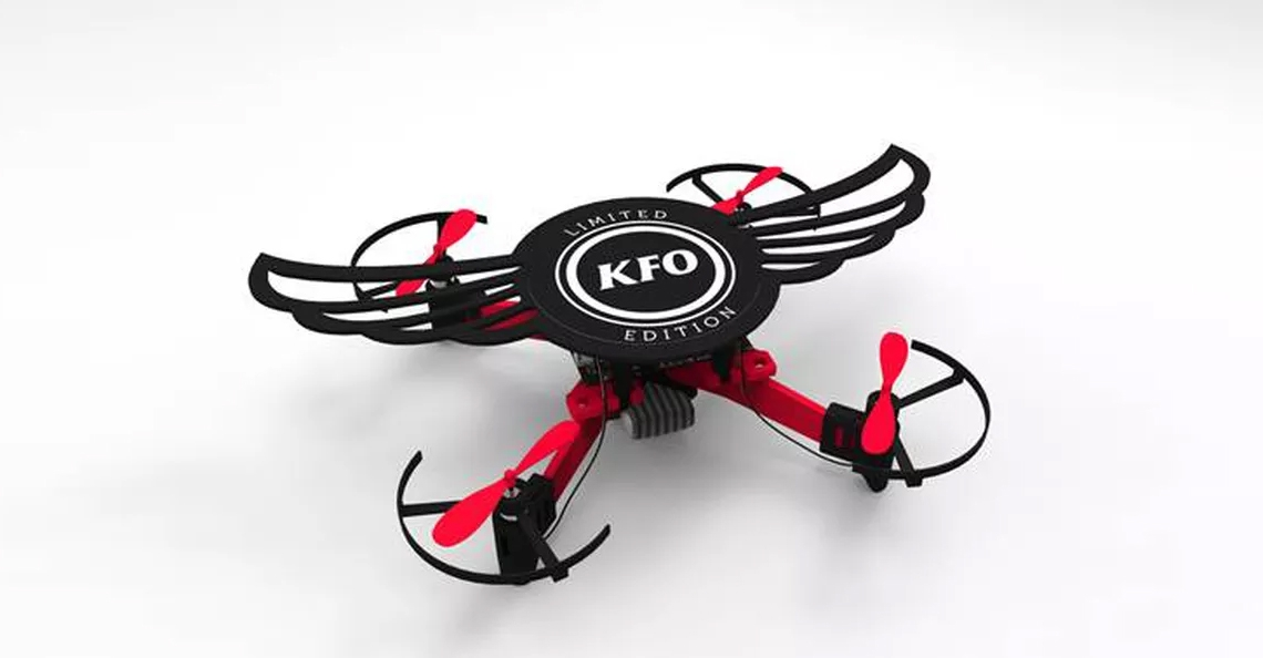 Kentucky Fried Chicken India geeft limited edition KFO drone weg