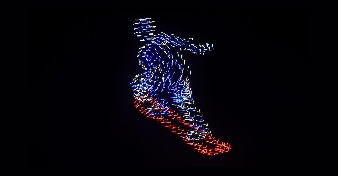 Intel geeft lichtshow voor Olympische spelen met 1218 drones