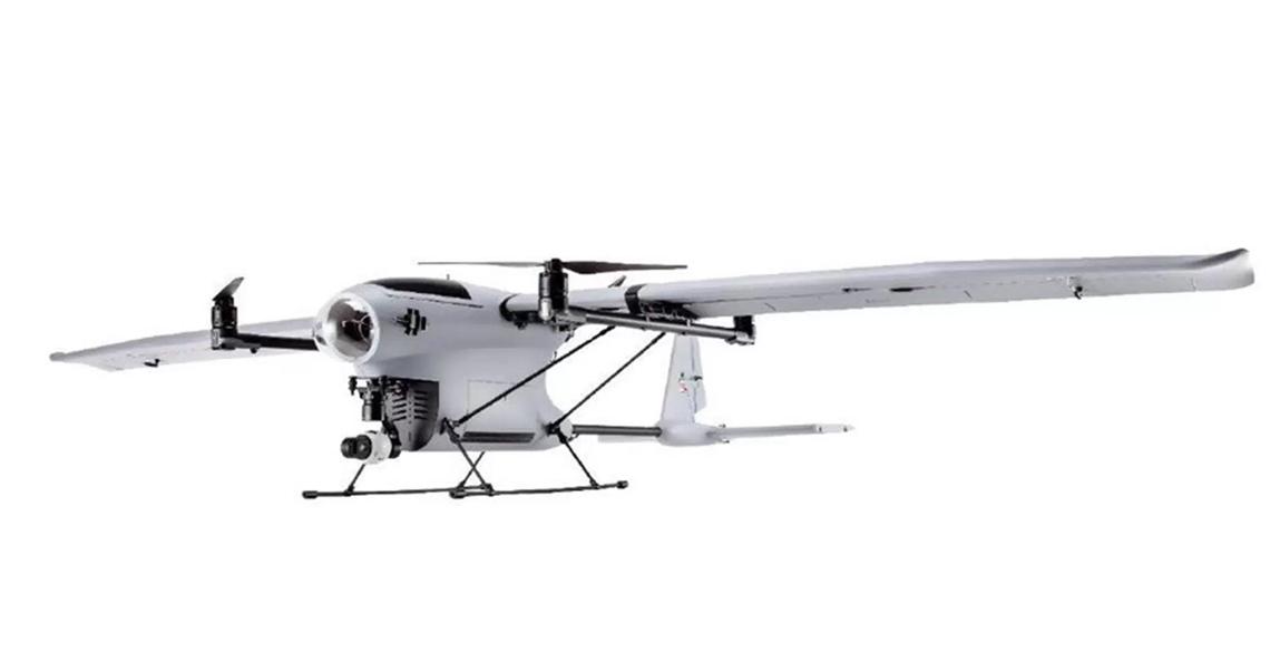 Uitgelekte foto's tonen DJI VTOL fixed-wing drone