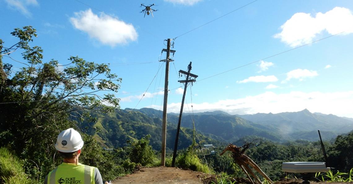Drones repareren elektriciteitsnetwerk in Puerto Rico