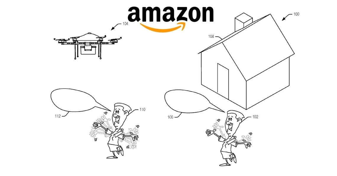 Amazon verkrijgt patent voor herkennen zwaaibeweging klant door drone