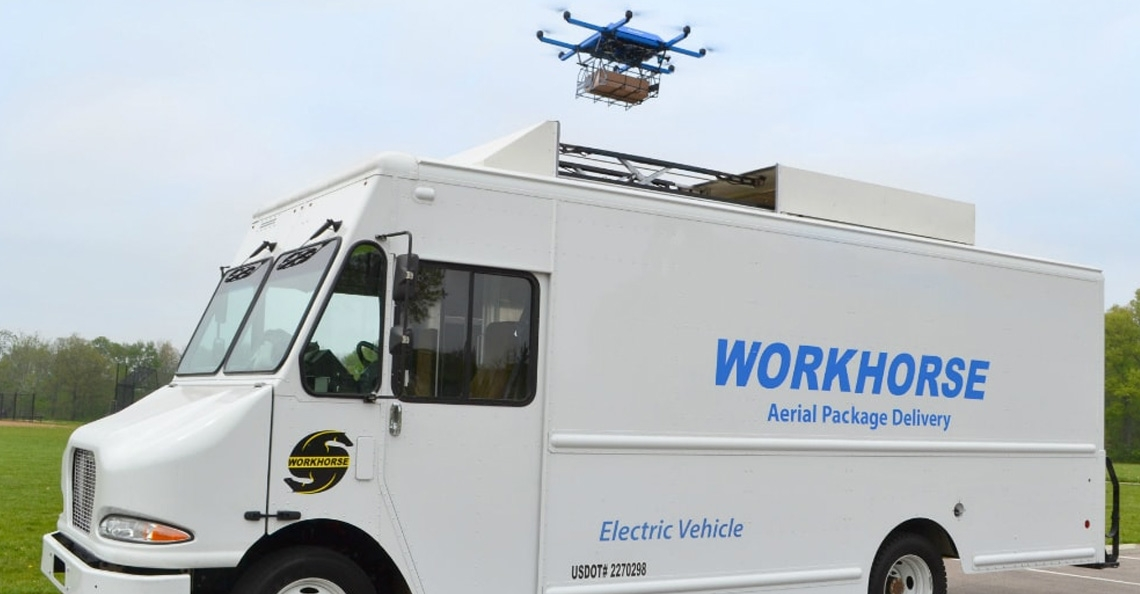 Workhorse Group krijgt patent voor Drone Delivery Truck
