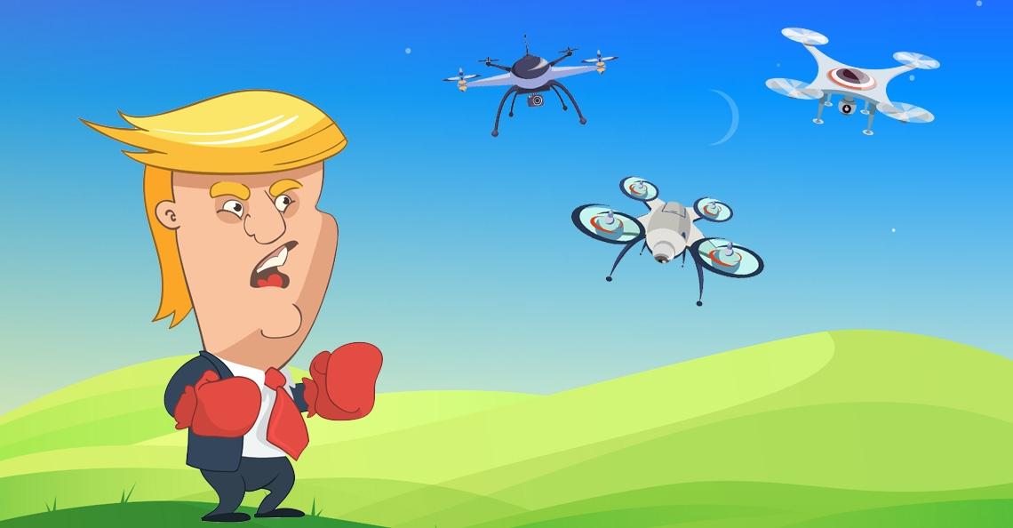 Trump zoekt naar manier om drones te onderscheppen