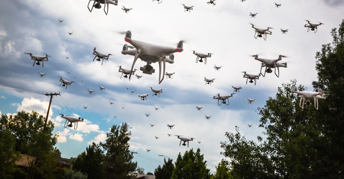 FBI-agenten aangevallen door zwerm drones tijdens gijzeling