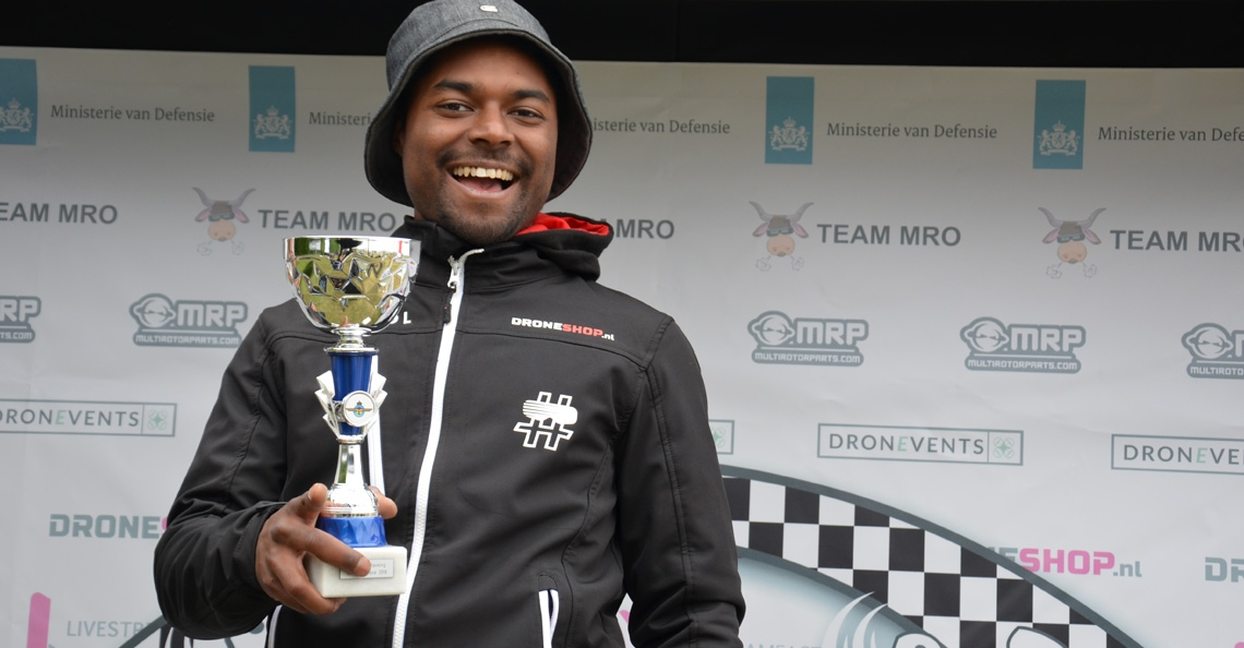 Dino Joghi (GhettoDino) wint tweede ranking NK Drone Race 2018