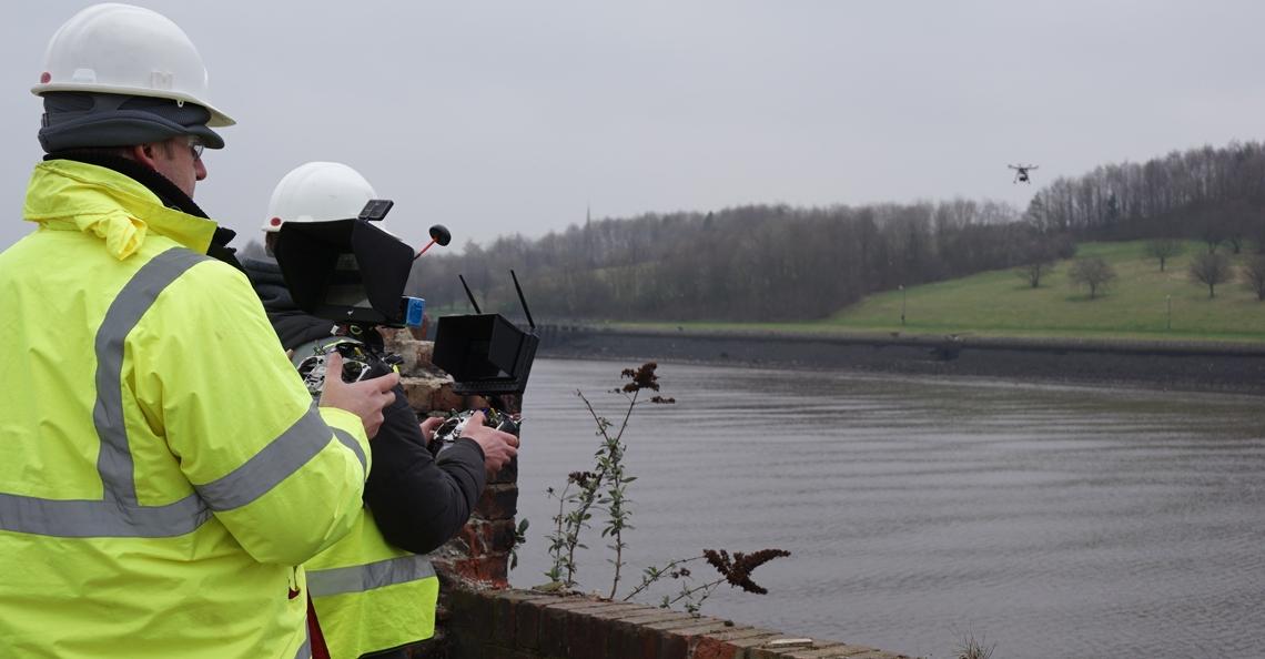 Waterschap Noorderzijlvest gebruikt drone met warmtecamera voor nestinspecties