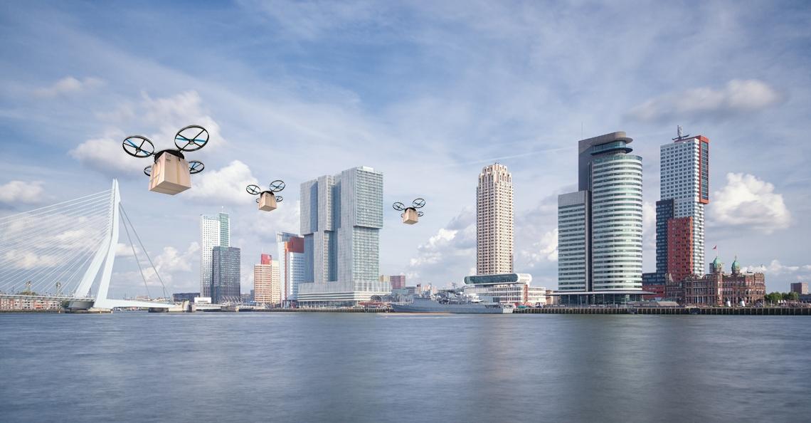 Qatarees bedrijf wil pilot dronebezorging in Rotterdam