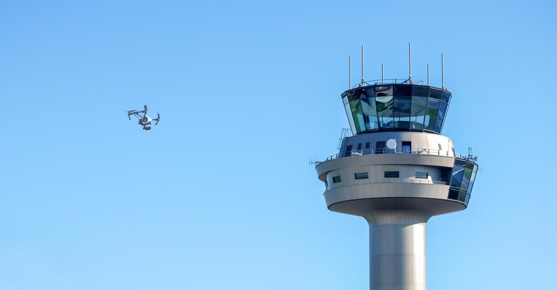 Luchtverkeerssysteem voor drones getest op Space53, Twente Airport