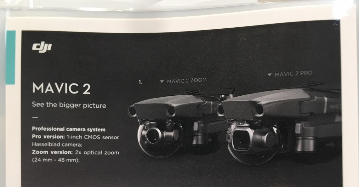 Gelekte advertentie bevestigt twee nieuwe drones in DJI Mavic 2 serie