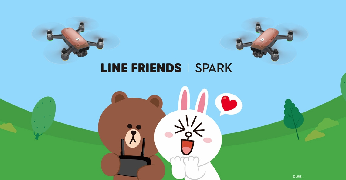 DJI brengt LINE FRIENDS BROWN versie van Spark drone uit