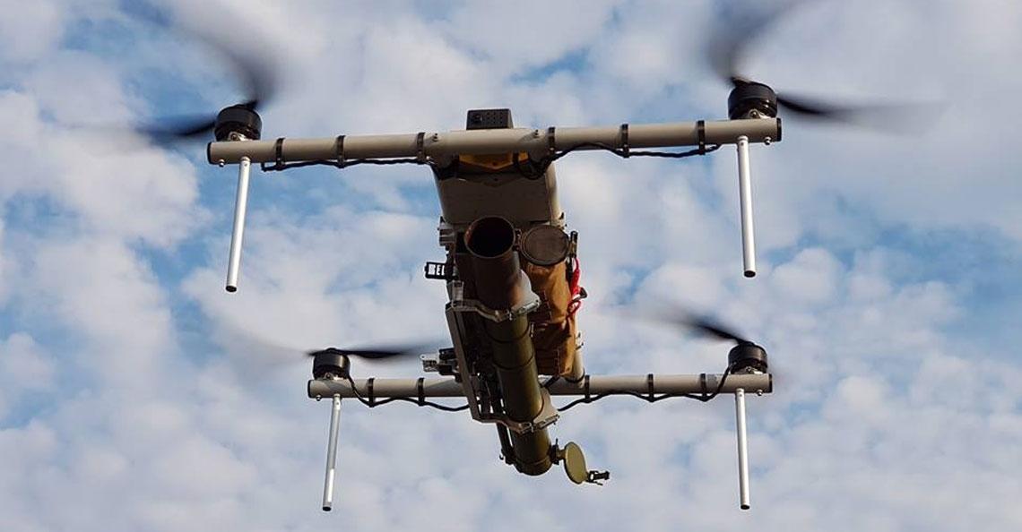Oekraïens bedrijf introduceert anti-tank drone