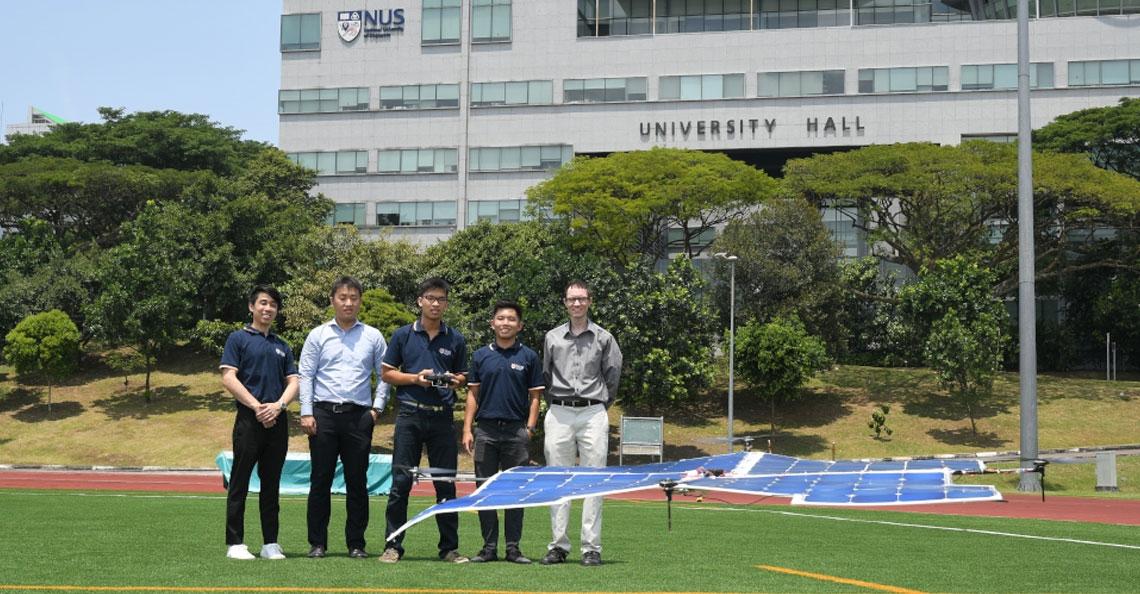 Solar quadcopter vliegt zonder accu
