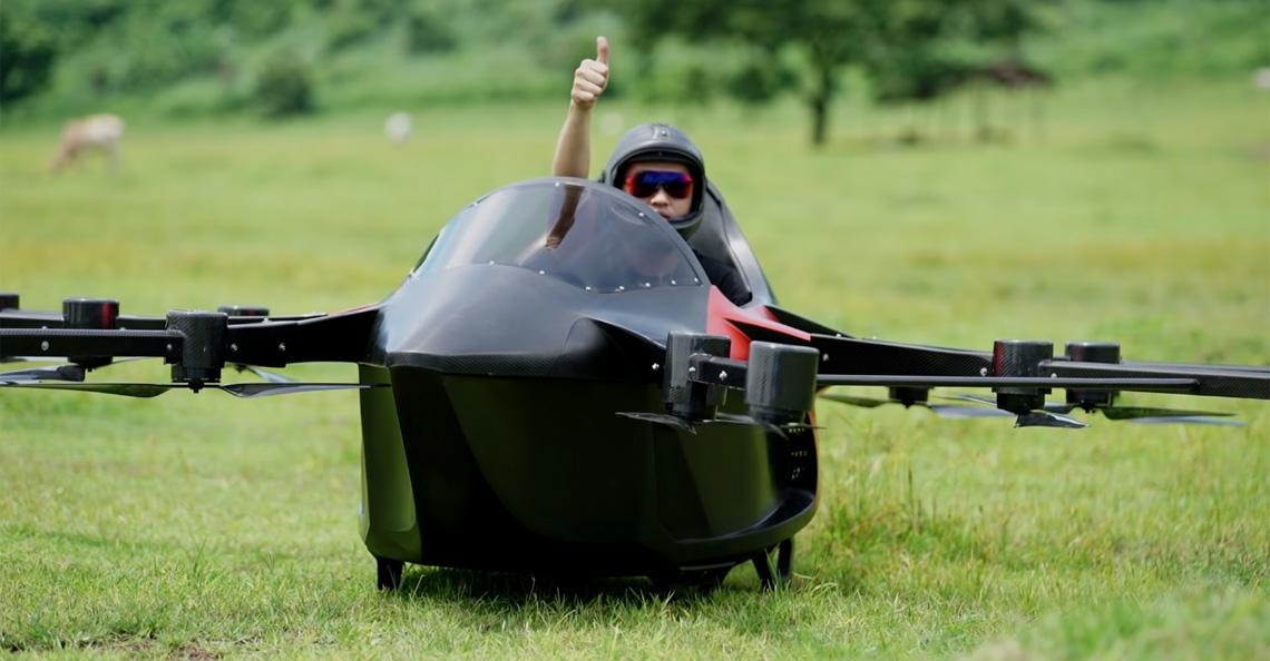Hobbyist test met succes zelfgemaakte 'drone-auto'