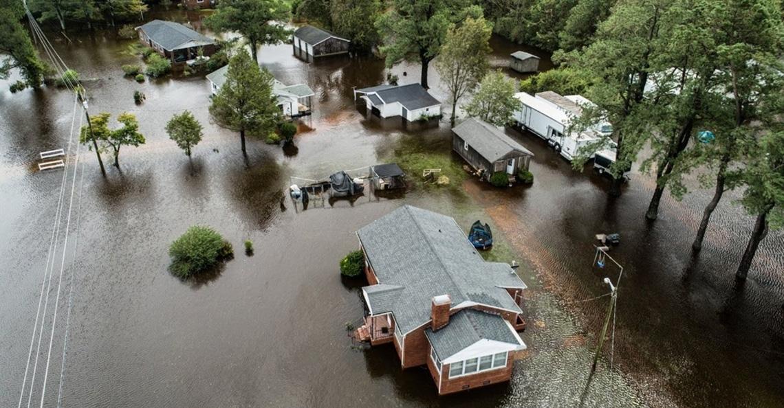 Drones ingezet bij schadeherstel orkaan Florence