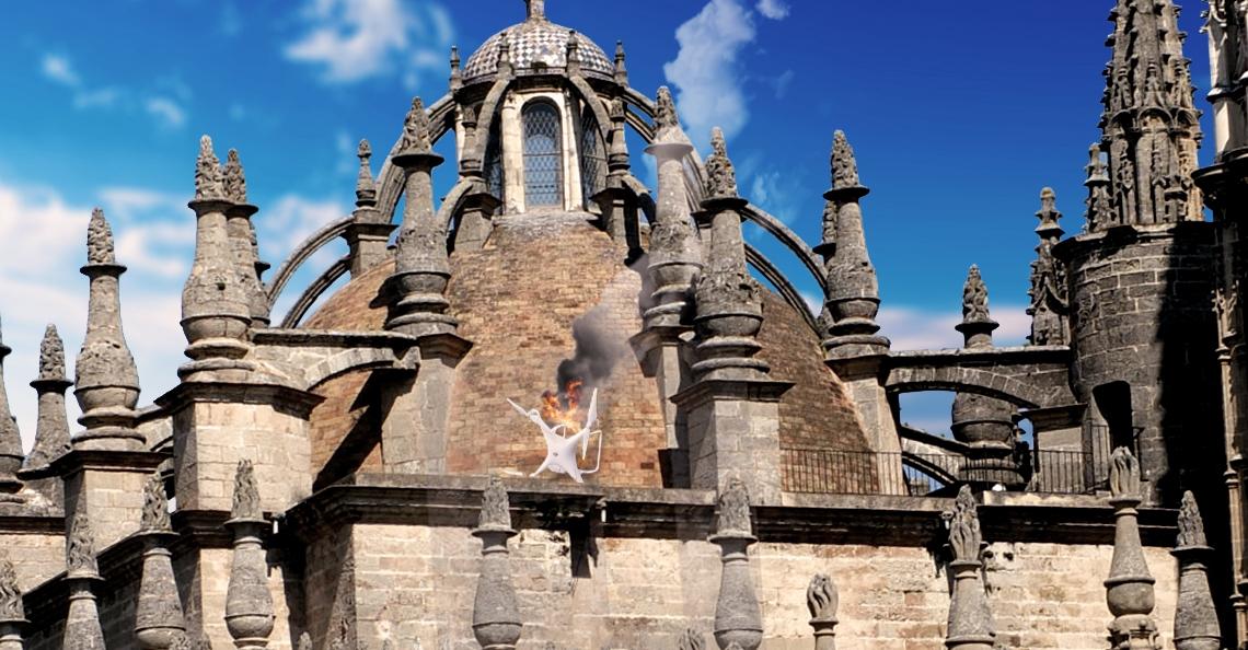 Nederlanders aangehouden voor dronecrash boven op Kathedraal Sevilla