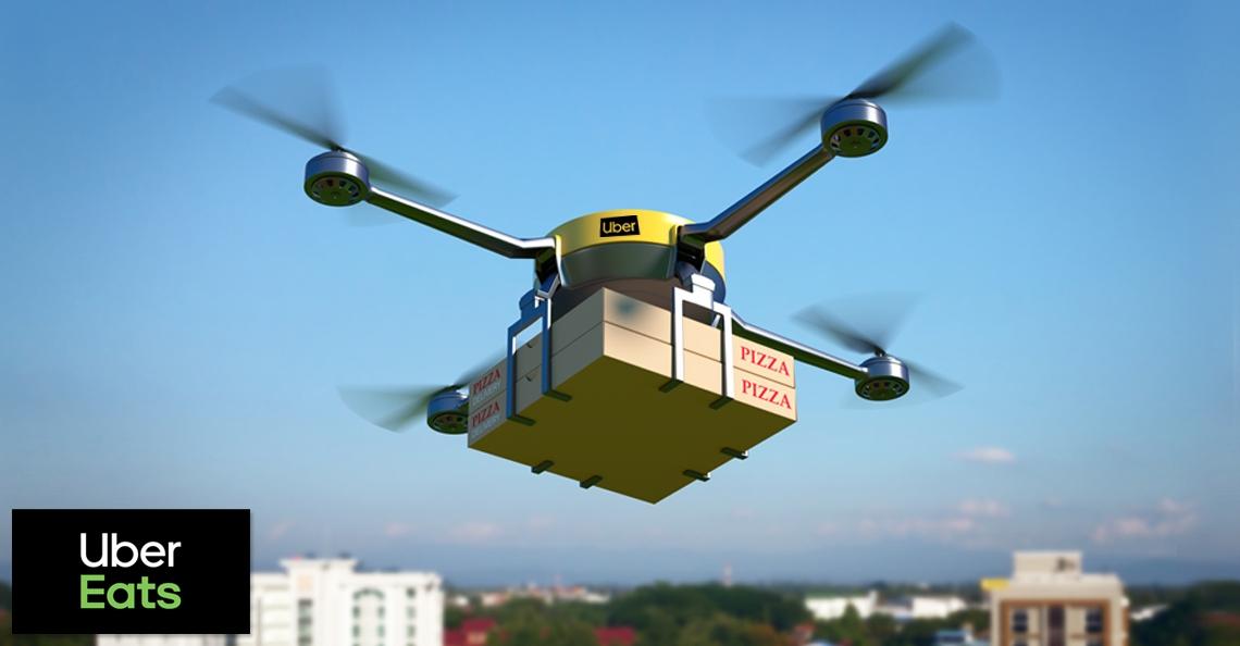 Uber wil in 2021 maaltijden met drones bezorgen