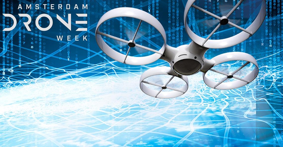 Amsterdam centrum voor drones tijdens Amsterdam Drone Week 2018