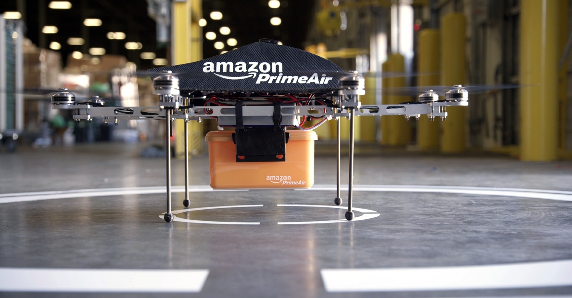 Amazon patenteert parachute voor drone bezorging