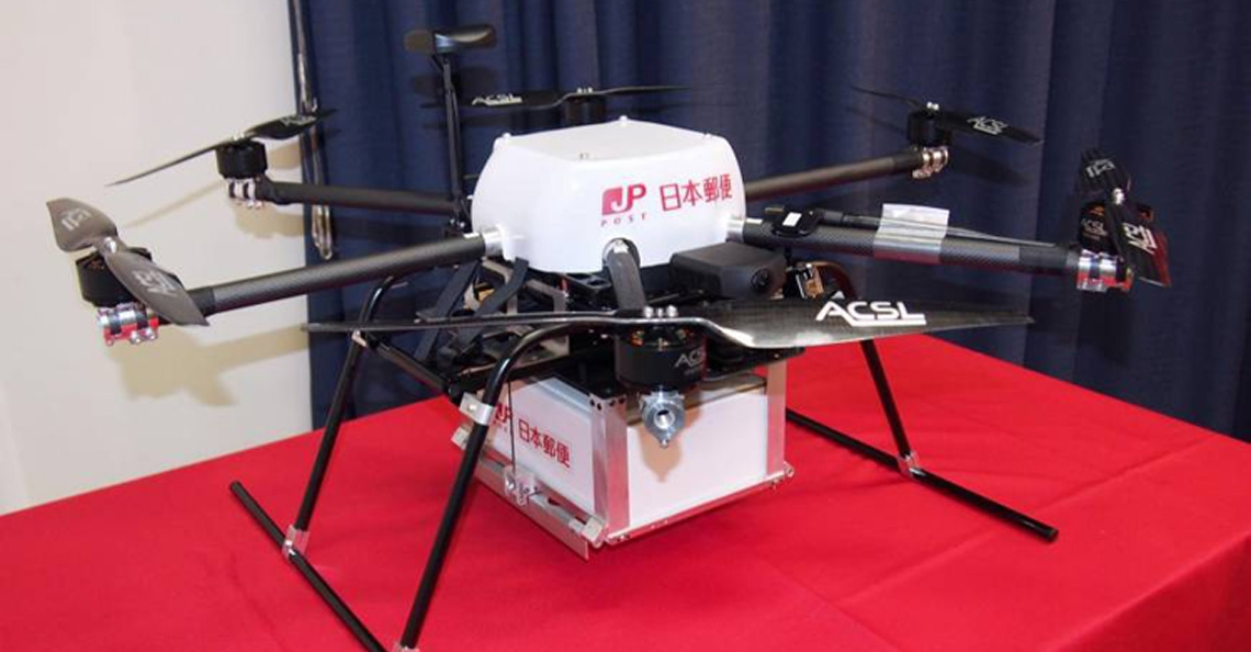 Japan Post Company test postbezorging met drone