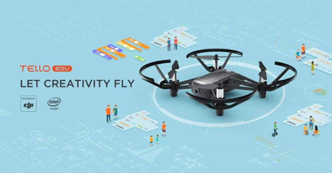 RyzeTech, DJI en Intel lanceren nieuwe Tello EDU drone