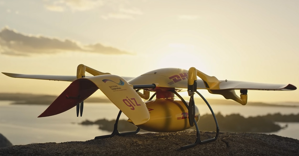 DHL test medicijnbezorging met drone in Afrika
