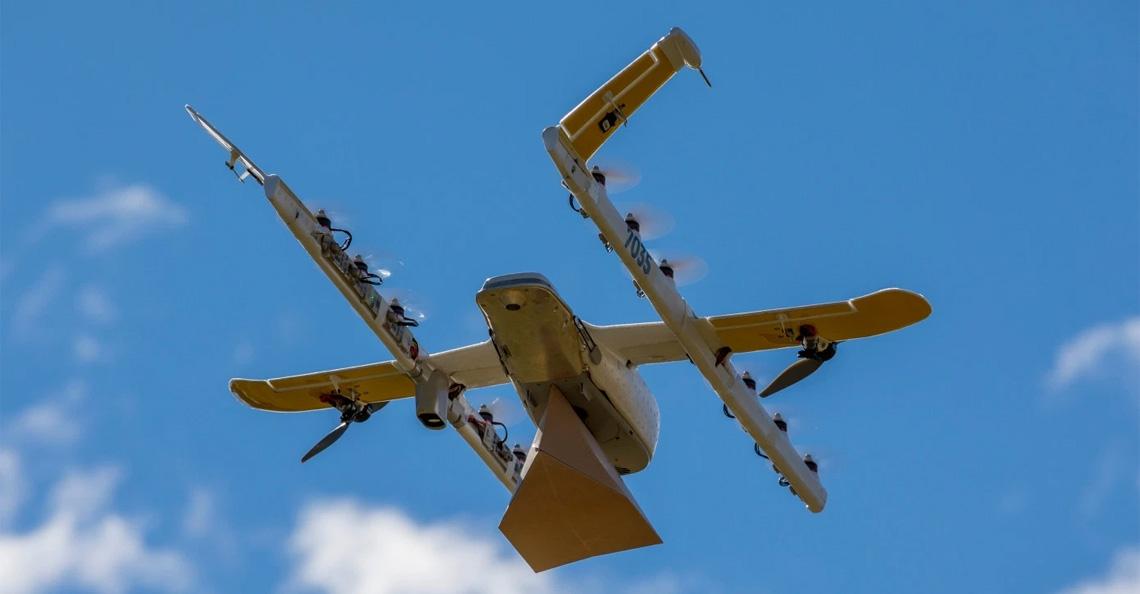 Google start pakket bezorging met drones in Finland