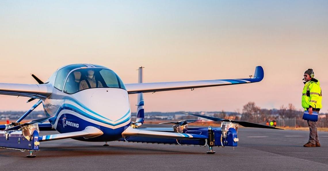 Boeing voltooid eerste testvlucht met drone-taxi
