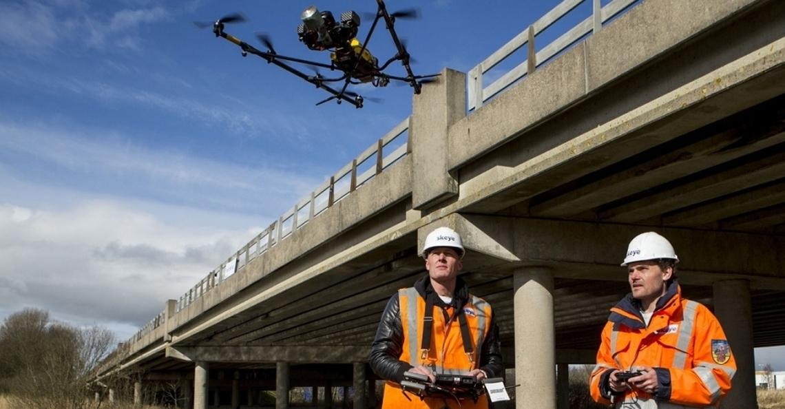 Geen inspecties met drones meer aan de Nollenbrug, Noord-Holland