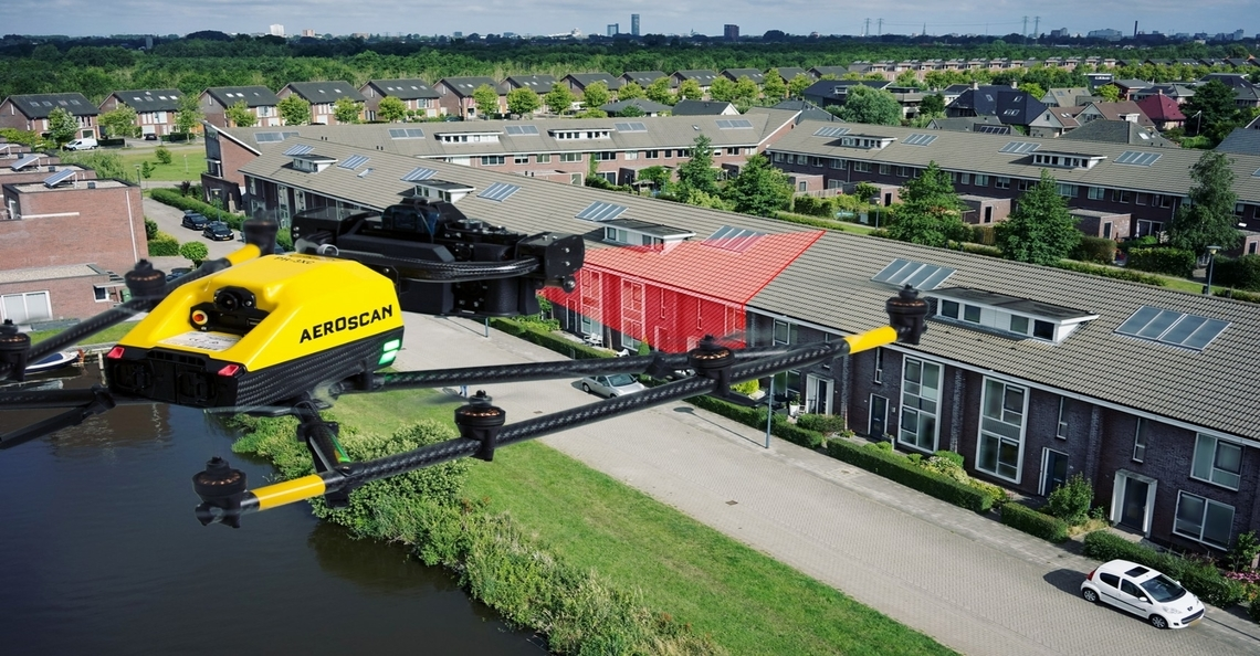 Drone-operator Aeroscan verzekert privacy bewoners WoonFriesland