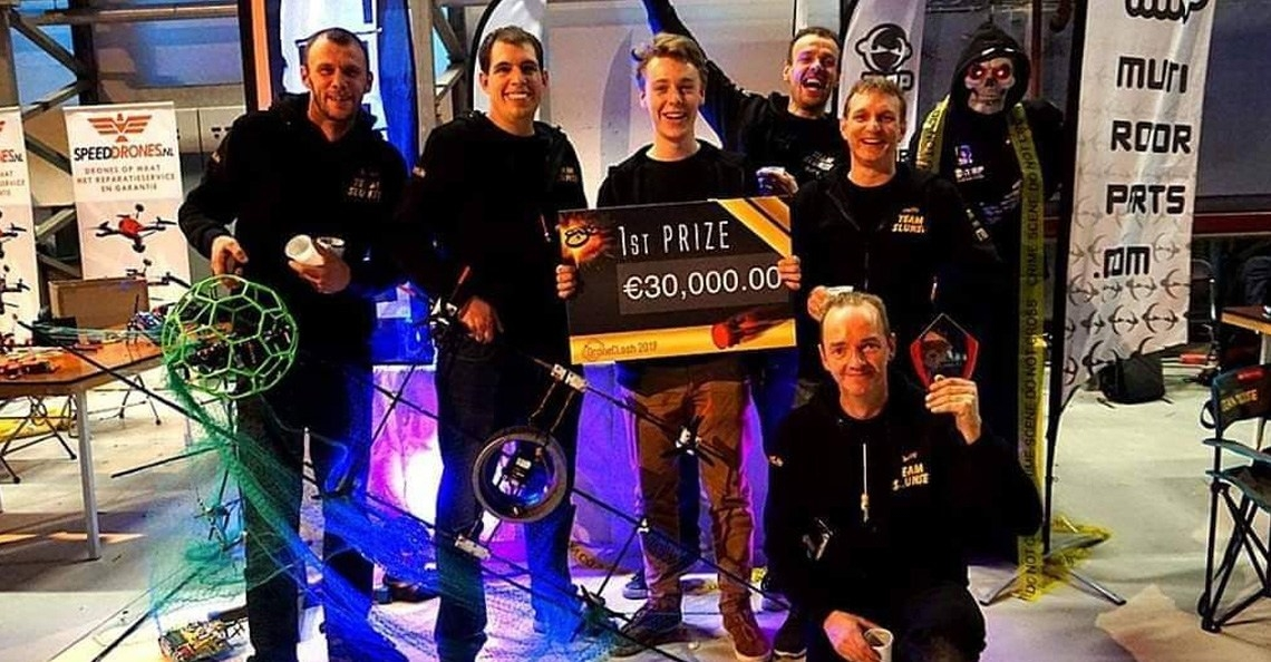 Team Slunse wint DroneClash 2019