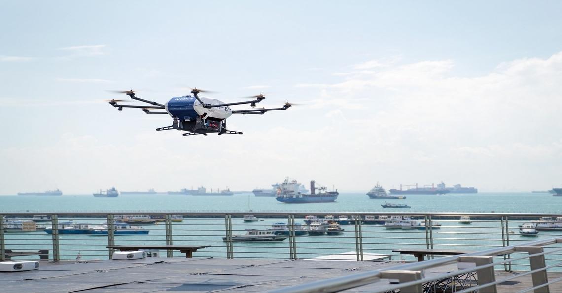 Airbus en Whihelmsen lanceren Skyways drone voor maritieme bezorging