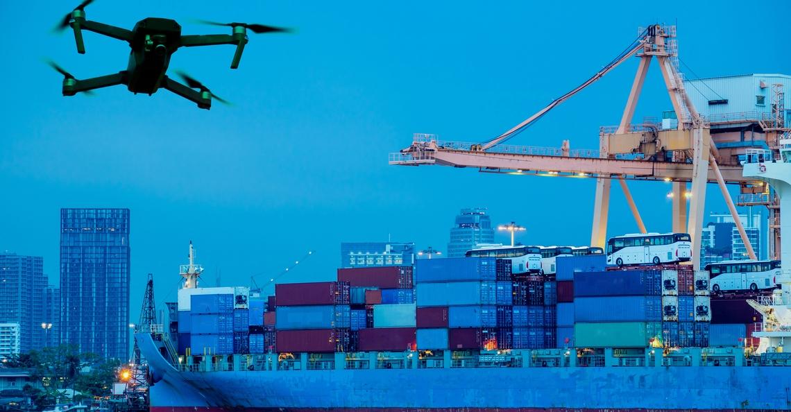 Denemarken zet drone in om zwaveluitstoot van scheepvaart te controleren