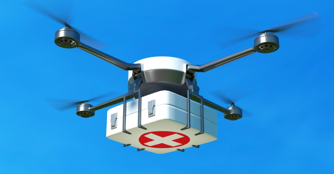 Ghana start met medicijnbezorging per drone