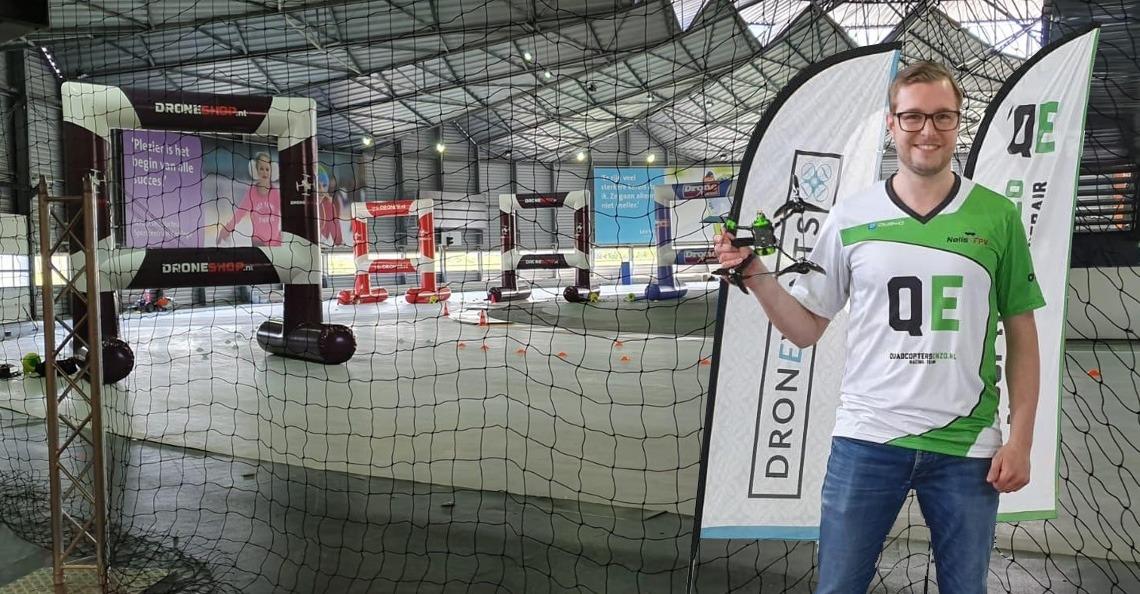Niels Meerdink (NelisFPV) winnaar Indoor NK Dronerace 2019